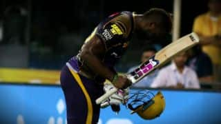 KKR's Andre Russell bow down to spectator after ruthless knock