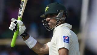 Pakistan's lead past 500, Misbah ul Haq scores attacking half century