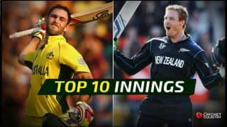 ICC Cricket World Cup 2015: Top 10 innings