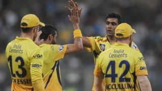 Royal Challengers Bangalore lose three early wickets against Chennai Super Kings in IPL 2014