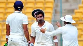रणजी ट्रॉफी, क्वार्टर फाइनल: विनय कुमार की हैट्रिक, मुंबई 173 रनों पर ढेर
