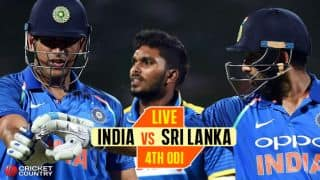 Live Cricket Score, India vs Sri Lanka 2017, 4th ODI at Premadasa, Colombo: IND win