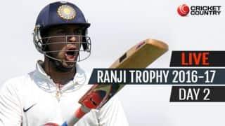 LIVE Cricket Score Ranji Trophy 2016-17, Day 2, Round 2