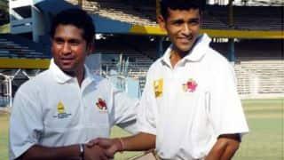 Sachin Tendulkar, Rohit Sharma pay tribute to Amol Mujumdar