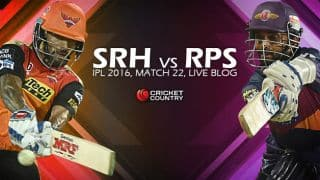 RPS 94/3 in Overs 11 | Live Cricket Score Sunrisers Hyderabad (SRH) vs Rising Pune Supergiants (RPS): RPS win by 34 runs (via D/L method)