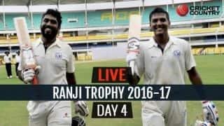 LIVE Cricket Score Ranji Trophy 2016-17, Day 4, Round 2