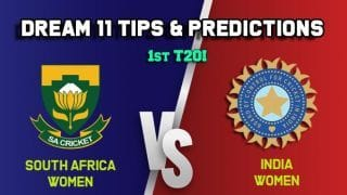 SA-W vs IN-W Dream11 Team South Africa Women vs India Women, 1st T20I, South Africa Women tour of India – Cricket Prediction Tips For Today's Match SA-W vs IN-W at Surat