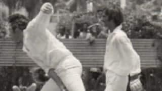 Peter Muspratt of Fiji takes 8 for 62 against Pakistan