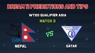 Dream11 Team Nepal vs Qatar Match 3  WORLD T20 QUALIFIER - ASIA  – Cricket Prediction Tips For Today's  Match NEP vs QAT at Singapore