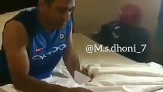 MSD celebrates 36th birthday with Indian Team and wife Sakshi