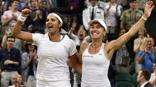Sachin Tendulkar congratulates Sania Mirza & Martina Hingis for winning Wimbledon 2015 women's doubles final