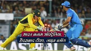 Live cricket score in Hindi India vs Australia 2017/18, 3rd T20I at Hyderabad