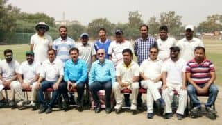 BCCI acting president CK Khanna participates in exhibition match
