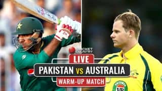 LIVE ICC Champions Trophy 2017 Score, PAK vs AUS, warm-up match: Toss delayed due to rain