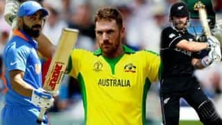 ICC CRICKET World Cup 2019:  Aaron finch, kane Williamson and Virat Kohi in highest run scorer list