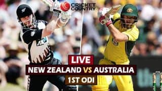 Live Cricket Score, New Zealand vs Australia, 1st ODI at Auckland: New Zealand survive Stoinis scare to win by 6 runs