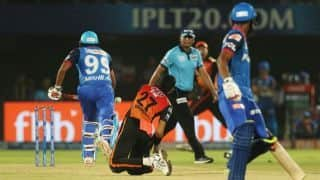 Amit Mishra 2nd player after Yusuf Pathan to be given out for obstructing the field in IPL history