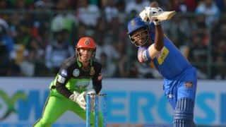 आईपीएल 2018: संजू सैमसन ने जड़ा धमाकेदार अर्धशतक; रॉयल चैलेंजर्स बैंगलोर के सामने 218 रनों का लक्ष्य