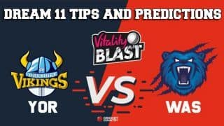 Dream11 Team Yorkshire vs Birmingham/Warwickshire North Group VITALITY T20 BLAST ENGLISH T20 BLAST – Cricket Prediction Tips For Today's T20 Match YOR vs WAS at Leeds