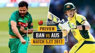 Bangladesh vs Australia, Match 5, ICC Champions Trophy 2017: Steven Smith and co. look to save elimination