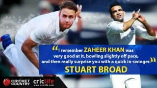 Stuart Broad opens up on tricks he learned from Zaheer Khan