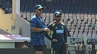 Matthew Hayden drops in at Australia nets, visitors rope in domestic wrist spinners in set-up
