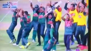 श्रीलंका बांग्लादेश के बीच नॉकआउट मुकाबला में जमकर हुआ नागिन डांस, इस तरह झूमते नजर आए खिलाड़ी