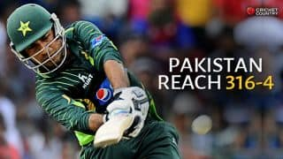 Solid top order display takes Pakistan to 316 for 4 against Sri Lanka in the 3rd ODI at Colombo