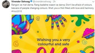 Sehwag, Laxman wish their fans on the occasion of Holi