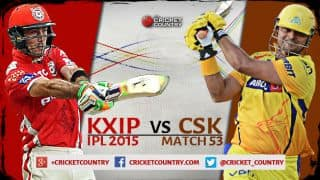Live Cricket Score KXIP vs CSK Match 53 IPL 2015, CSK 134/3 in 16.5 overs: CSK romp home by 7 wickets