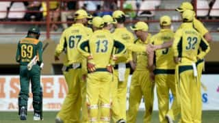 Australia bowlers shine once again as they restrict South Africa to 189-9 in Tri-Nation Series 2016, Match 3 at Guyana