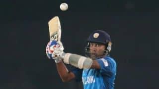 Mahel Jayawardene gets out on 27