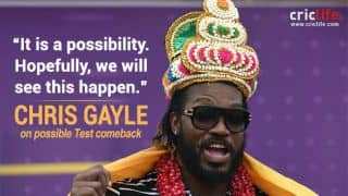 Chris Gayle hopes to play Test cricket again