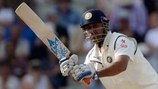 MS Dhoni spends time selecting bats at Meerut