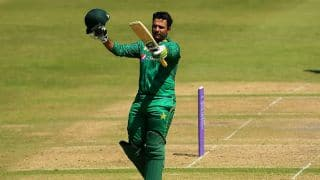 Sharjeel's blistering century takes PAK to 337/5 against IRE