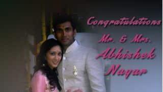 Abhishek Nayar ties the knot