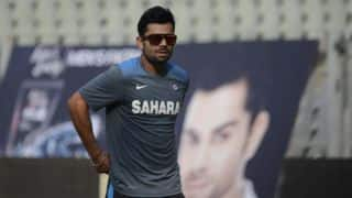 VIDEO: Kohli seeks permission from press for loo