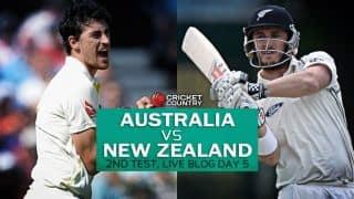 NZ 104/2│ Live Cricket Score, Australia vs New Zealand 2015, 2nd Test at Perth, Day 5: Match drawn
