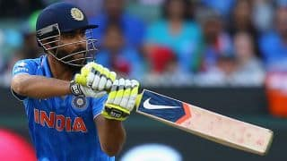 Ravindra Jadeja dismissed for 6 by Sachithra Senanayake in 1st T20I against Sri Lanka