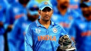 MS Dhoni may be seen playing on home ground for the last time