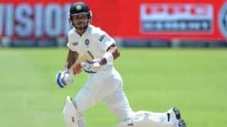 India vs New Zealand, 1st Test, Day 4: Shikhar Dhawan, Virat Kohli continue India's spirited chase; score 131/2