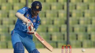 India vs England, ICC World T20 2014 warm-up: India 45/3 in 7 overs