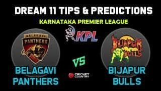 BP vs BIJ Dream11 Team Belagavi Panthers vs Bijapur Bulls KPL 2019 Karnataka Premier League – Cricket Prediction Tips For Today's T20 Match at Mysore