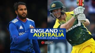 AUS 140/2 | Overs 24.2 | Live Cricket Score, England vs Australia 2015, 5th ODI at Old Trafford: AUS win series 3-2
