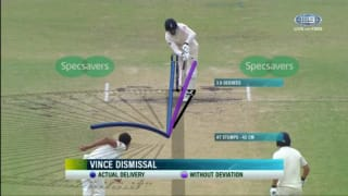 Video: Mitchell Starc stuns James Vince with the ball of The Ashes 2017-18