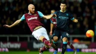 EPL 2015-16: Sergio Aguero's brace hlps Manchester City draw against West Ham United