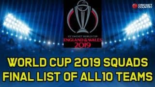 Cricket World Cup 2019 – Final 15-member squad of all teams for World Cup 2019