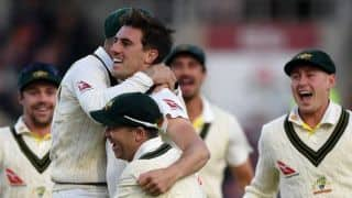 Ashes 2019: Pat Cummins' twin strikes leave Australia on the brink of retaining Ashes