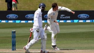 New Zealand four wickets away from victory against Sri Lanka at lunch on Day 5, 1st Test at Dunedin