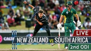 Live Cricket Score, New Zealand vs South Africa, 2nd ODI at Christchruch: